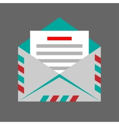 Envelope on gray background vector