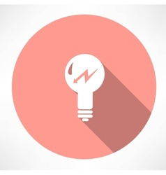 Lamp with lightning icon vector
