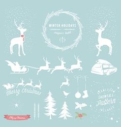 Winter holidays designers toolkit vector