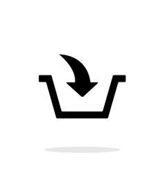 Add to basket simple icon on white background vector