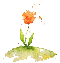 Hand painted watercolor flower vector