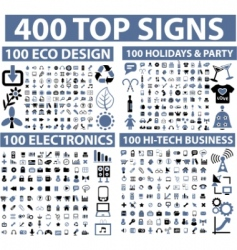 Hundreds of icons vector