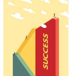 People climb the stairs success concept vector