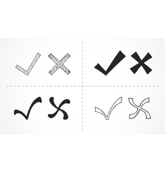 Cross marks - hand drawn vector