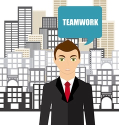 team work vector image