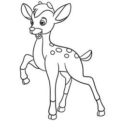 Young cartoon deer vector