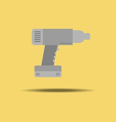Electric drill icon vector