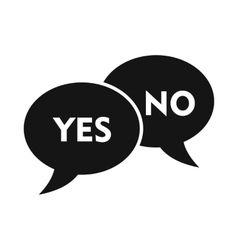 Yes no bubbles icon simple style vector
