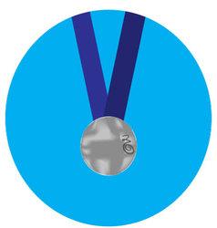Silver medal icon vector