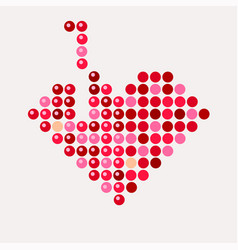 Abstract mosaic heart for valentines day tetris vector