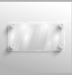 advertising glass board vector image