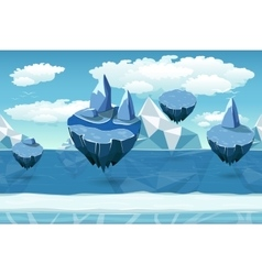 Arctic seamless cartoon landscape endless pattern vector image vector image