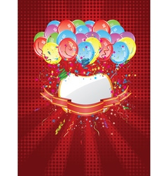 Balloons with Banners4 vector image vector image