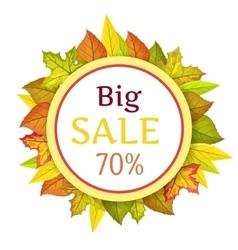 Big autumn sale concept in flat design vector
