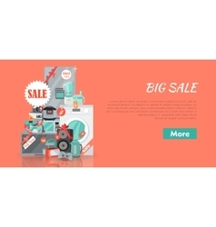 Big Super Web Sale Banner Household Appliances vector image vector image