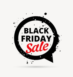 black friday sale design in chat bubble vector image vector image