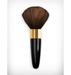 Brush for make up vector