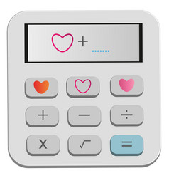 calculate heart vector image vector image