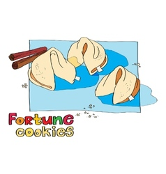 cookie fortune vector image