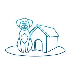 dog house cartoon vector image vector image