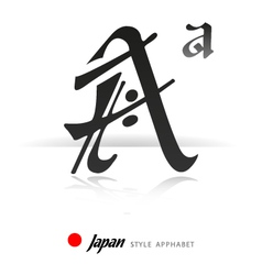 English alphabet in Japanese style - A - vector image vector image