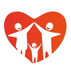 FamilyHeart vector image vector image