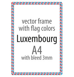 flag v12 luxembourg vector image vector image