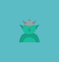 flat icon character element vector image