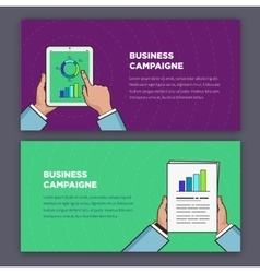Flat style infographic of advertising campaign vector