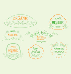 Floral frames for natural products vector