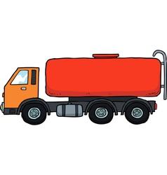 gasoline tanker vector image vector image