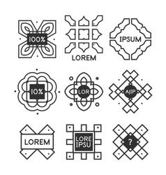 Geometric vintage label minimal design vector