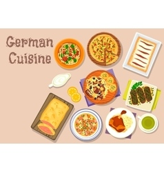 German cuisine lunch icon for menu design vector