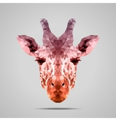 Giraffe low poly voodoo raw sienna vector