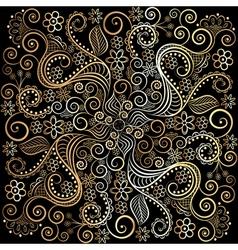 Golden circular pattern on a dark background vector