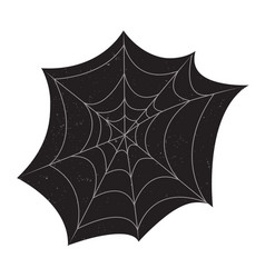 Halloween spider web with grunge textures vector