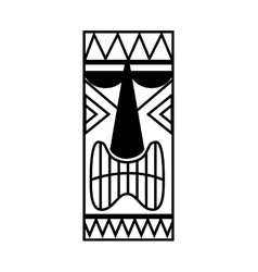 Hawaiian tiki culture icon vector
