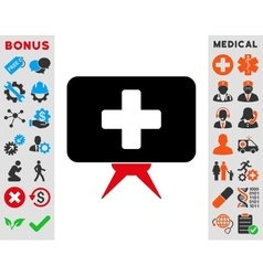 Health care presentation icon vector