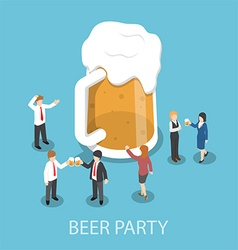 Isometric business people drinking beer vector