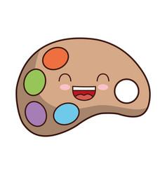 Kawaii paint palette icon vector