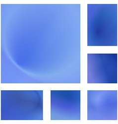 Light blue abstract background design set vector