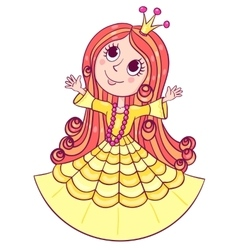 Little cute princess yellow vector