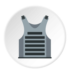 Paintball vest icon circle vector