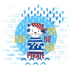 Pirate cat vector