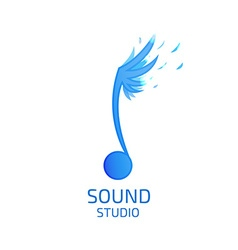 Record Studio logo flat style vector image vector image