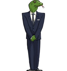 reptilians in suit vector image vector image