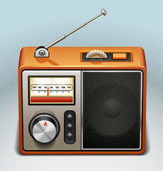 retro radio icon vector image vector image