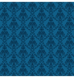 Seamless damask wallpaper 4 blue color vector