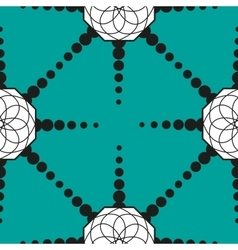 seamless pattern with geometric shapes and dotted vector image vector image