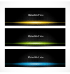 Set of bright glowing banners vector image vector image